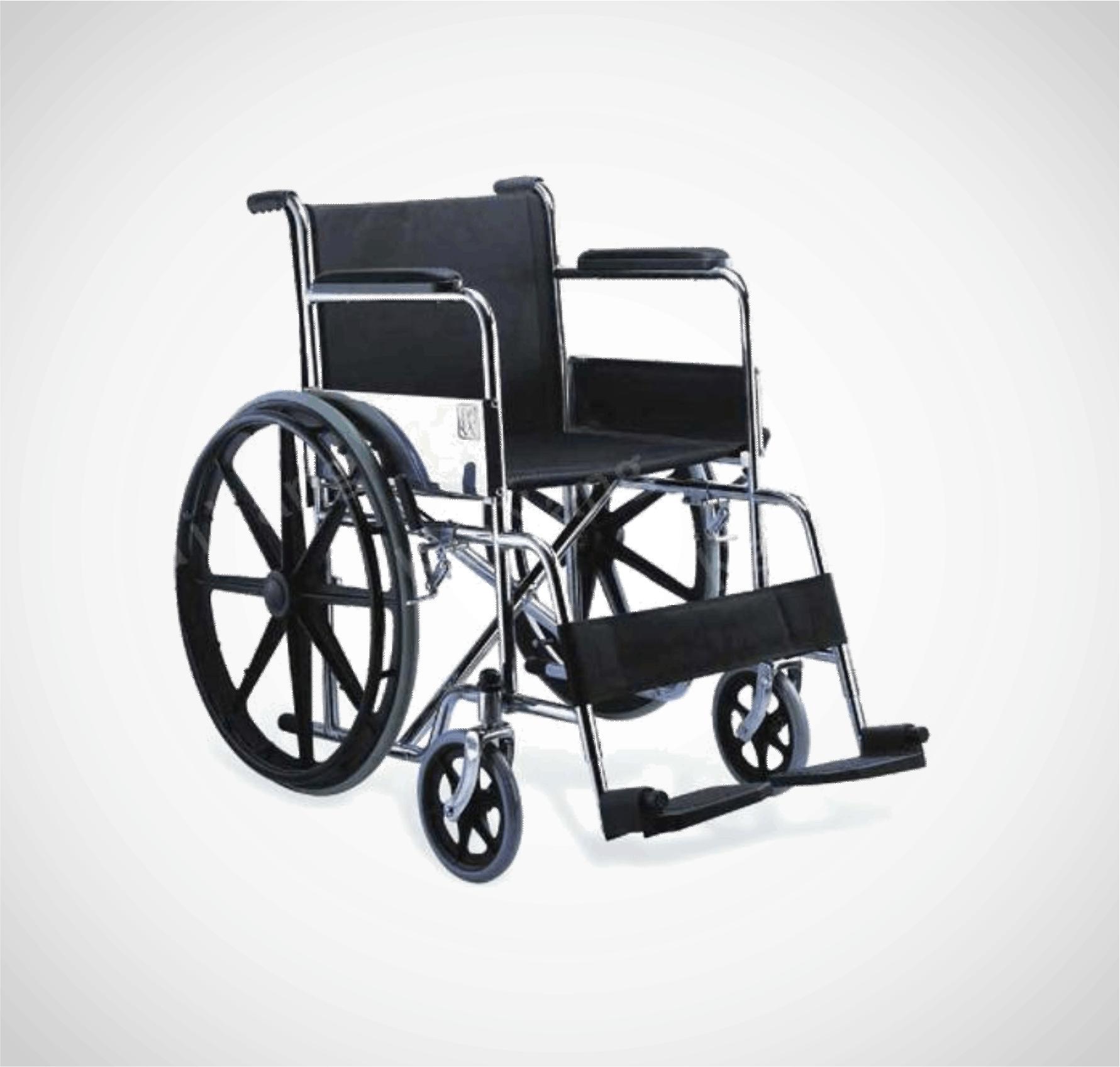 Silla de ruedas de acero económica